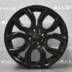 "Genuine Mini Cooper S R50 R53 R56 R97 Flame Spoke 17"" inch Alloy Wheels with Gloss Black Finish 36116775685"