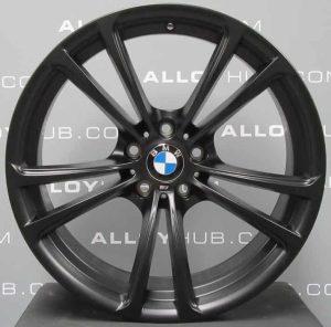 "Genuine BMW 5 Series M5 F10 409M Sport 20"" inch Alloy Wheels with Satin Black Finish 36112284254 36112284255"