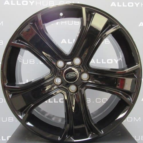 """Genuine Land Rover Range Rover Sport Autobiography HSE HST 5 Spoke 20"""" Inch Alloy Wheels with Gloss Black Finish LR028938"""