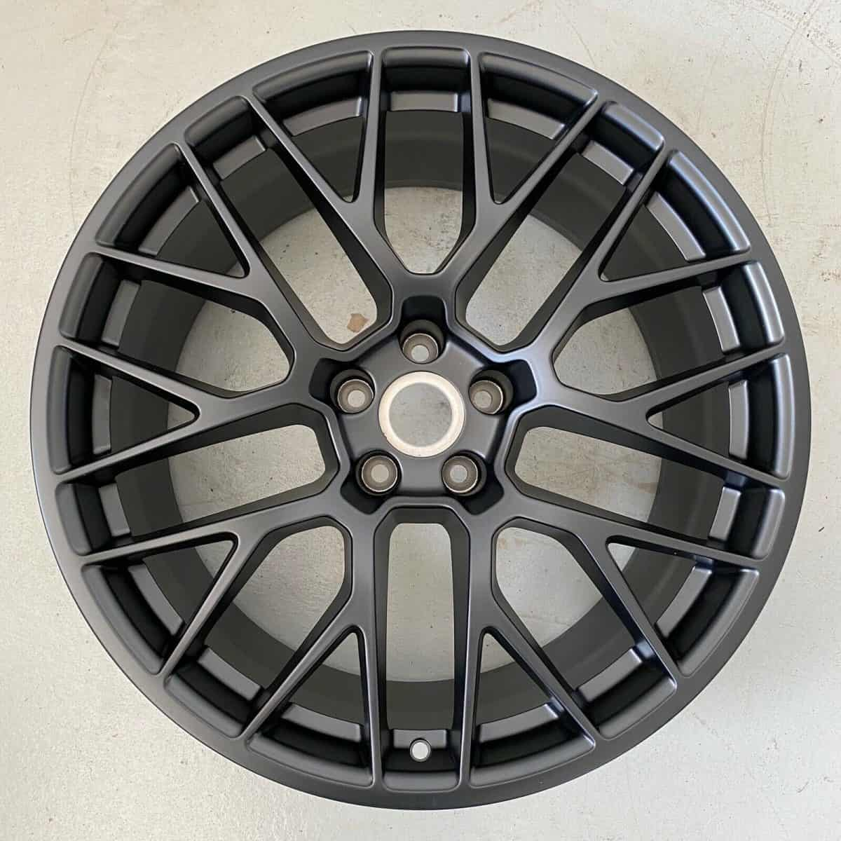 "Genuine Porsche Macan 95B RS Spyder Spoke 20"" inch Alloy Wheels with Satin Black Finish 95B601025BFJE1 95B601025BGJE1"