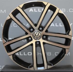 "Genuine Volkswagen Golf MK7 GTD Nogaro 18"" Inch Alloy Wheels with Black & Diamond Turned Finish 5G0 601 025 AQ"