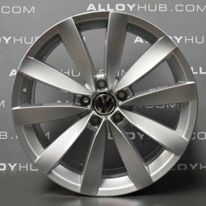 Genuine Volkswagen Scirocco Laguno 19″ inch 10 Spoke Alloy Wheels with Silver Finish 1K8 601 025 S