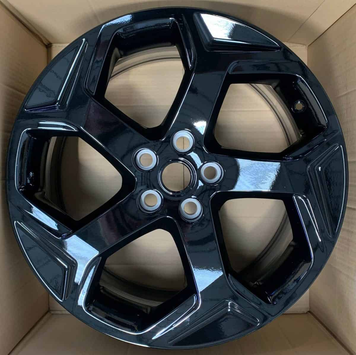 "Genuine Land Rover Range Rover Style Style 5084 20"" inch 5 Split-Spoke Alloy Wheels with Gloss Black Finish LR099135"