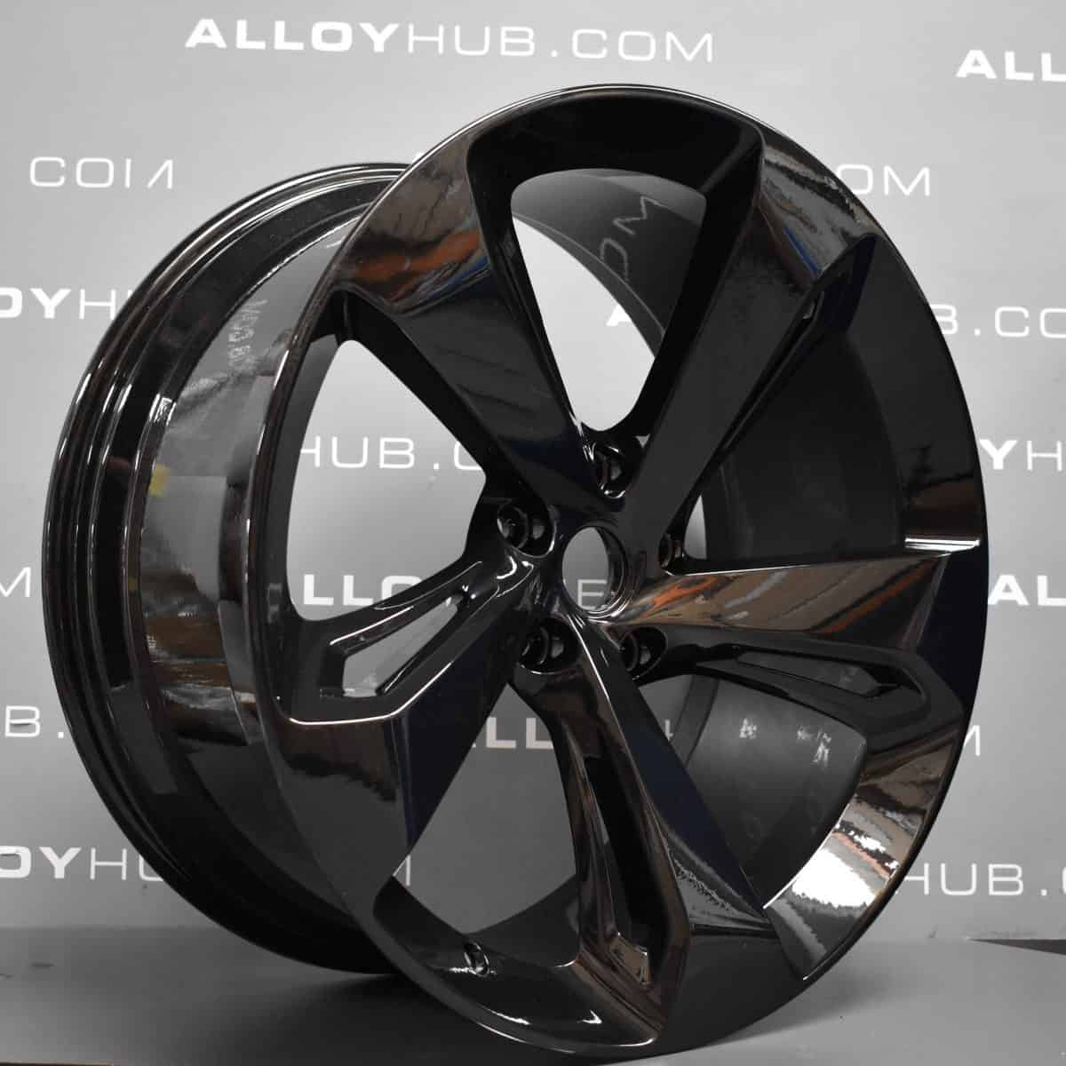 """Genuine Bentley Bentayga 5 Spoke 22"""" Inch Alloy Wheels with Gloss Black Finish 3A601025D, 36A601025G"""