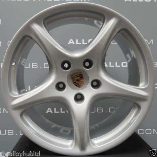 """Genuine Porsche 911 997 Carrera 2/2S Classic 5 Spoke 19"""" Inch Alloy Wheels with Silver Finish 99736215603 99736216204"""