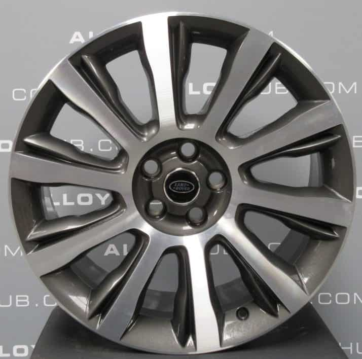 """Genuine Land Rover Range Rover Sport L494 Vogue L405 Style 1001 21"""" inch 10 Spoke Alloy Wheels with Grey & Diamond Turned Finish LR038149"""