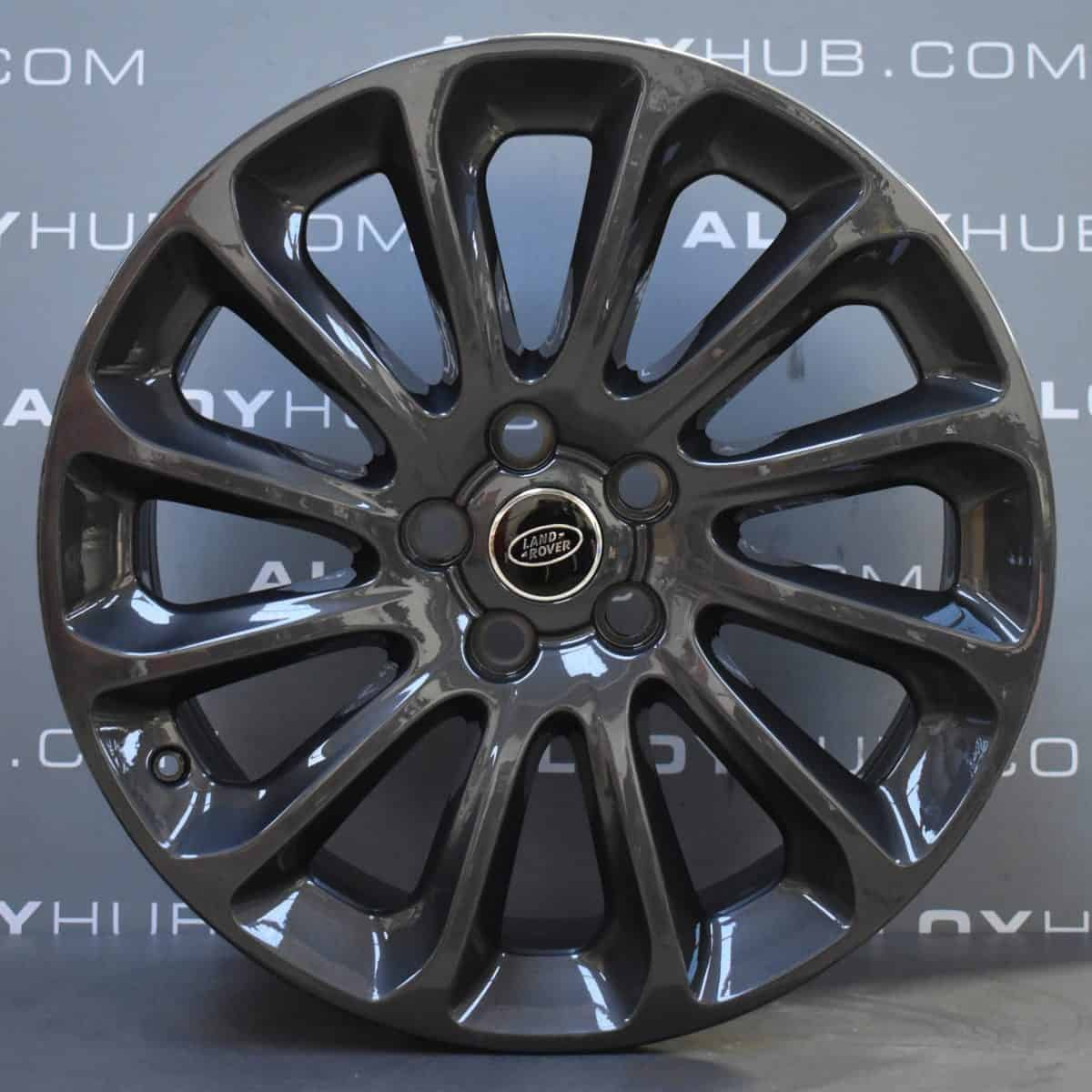 """Genuine Land Rover Range Rover Style 1065 20"""" inch 12 Spoke Alloy Wheels with Anthracite Grey Finish LR098796"""