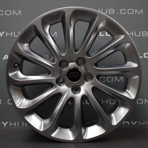 """Genuine Land Rover Range Rover Style 1065 20"""" inch 12 Spoke Alloy Wheels with Shadow Chrome Finish LR098796"""