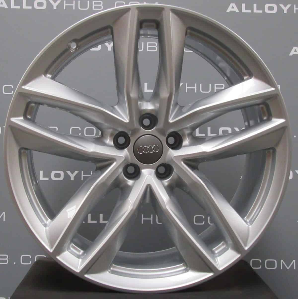 Genuine Audi Q7 4M RS 21″ inch 5 Twin Spoke Alloy Wheels with Silver Finish 4M0 601 025 S