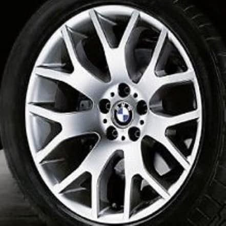 Genuine BMW X5 E70 Style 177 Y Spoke 18″ inch Alloy Wheels with Silver Finish 36116774395