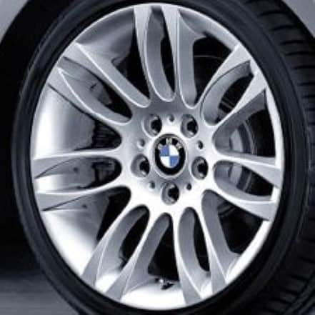 Genuine BMW 3 Series Style 195 18″ inch 7 Double Spoke Alloy Wheels with Silver Finish 36116769561 36116769563