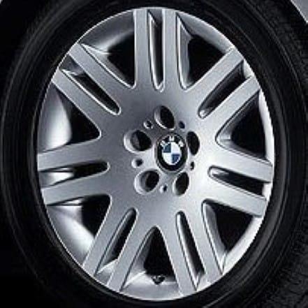 Genuine BMW 7 Series E65 E66 E67 E68 Style 93 18″ inch 7 Double Spoke Alloy Wheels with Silver Finish 36116753239