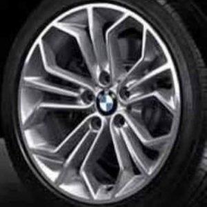 Genuine BMW X1 E84 Style 323 18″ inch Honeycomb Alloy Wheels with Grey & Diamond Turned Finish 36116789147 3611678914