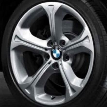 Genuine BMW X1 E84 Style 320 18″ inch 5 Spoke Alloy Wheels with Silver Finish 36116789143