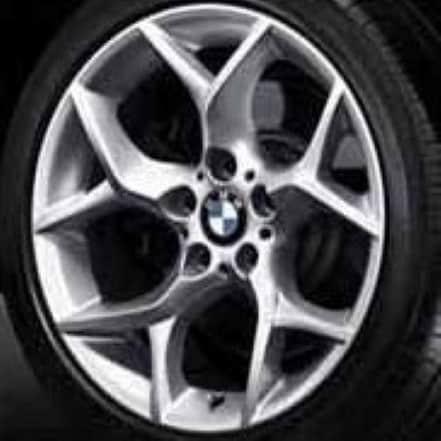 Genuine BMW X1 E84 Style 322 18″ inch Y-Spoke Alloy Wheels with Silver Finish 36116789145 36116789146
