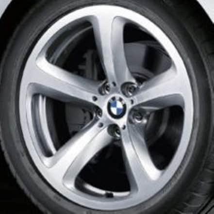 "Genuine BMW 6 Series E63/E64 Style 249 5 Spoke 19"" inch Alloy Wheels with Silver Finish 36116777353 36116777354"