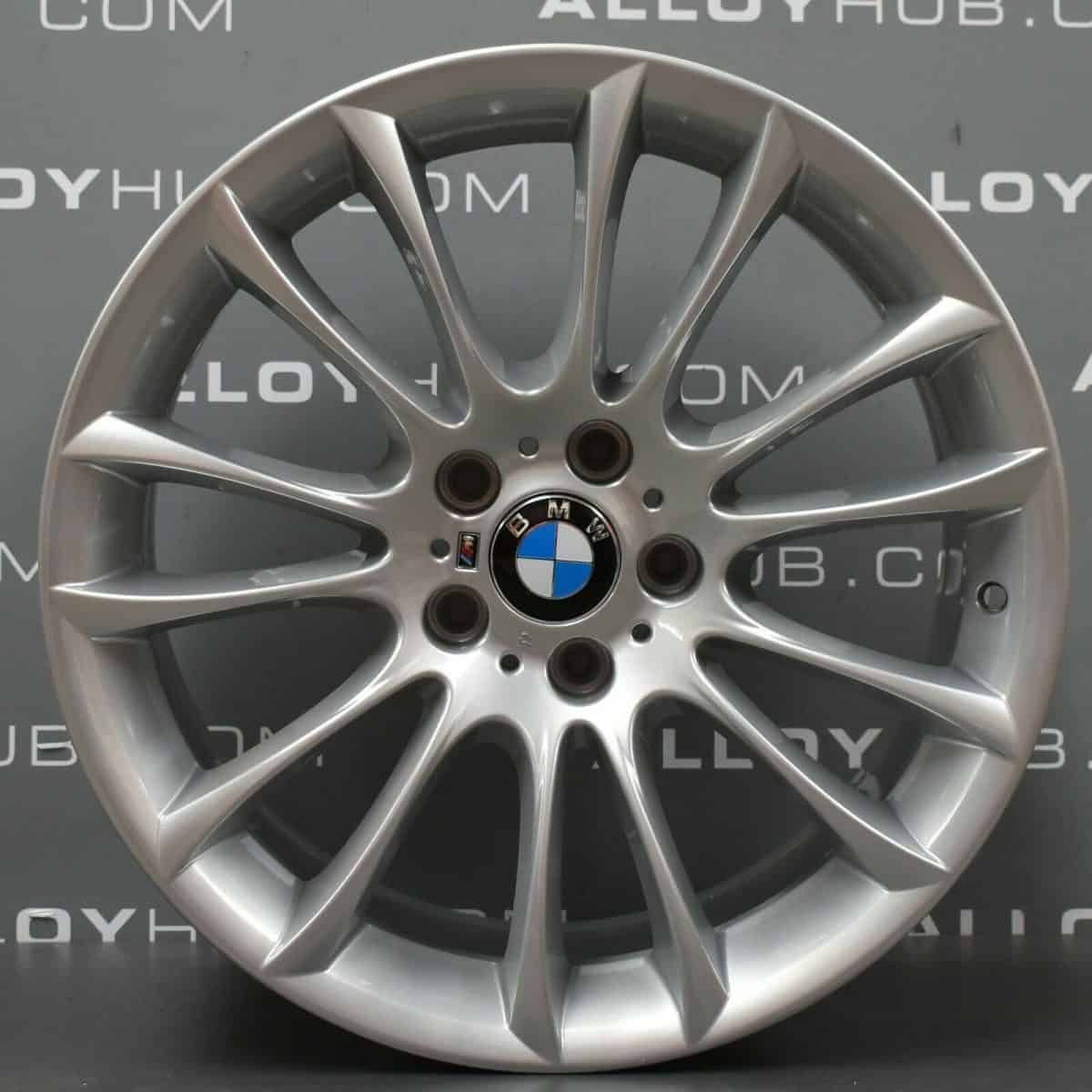 "Genuine BMW 5/7 Series 302M Sport V Spoke 19"" Inch Alloy Wheels with Silver Finish 36117841819 36117841822"