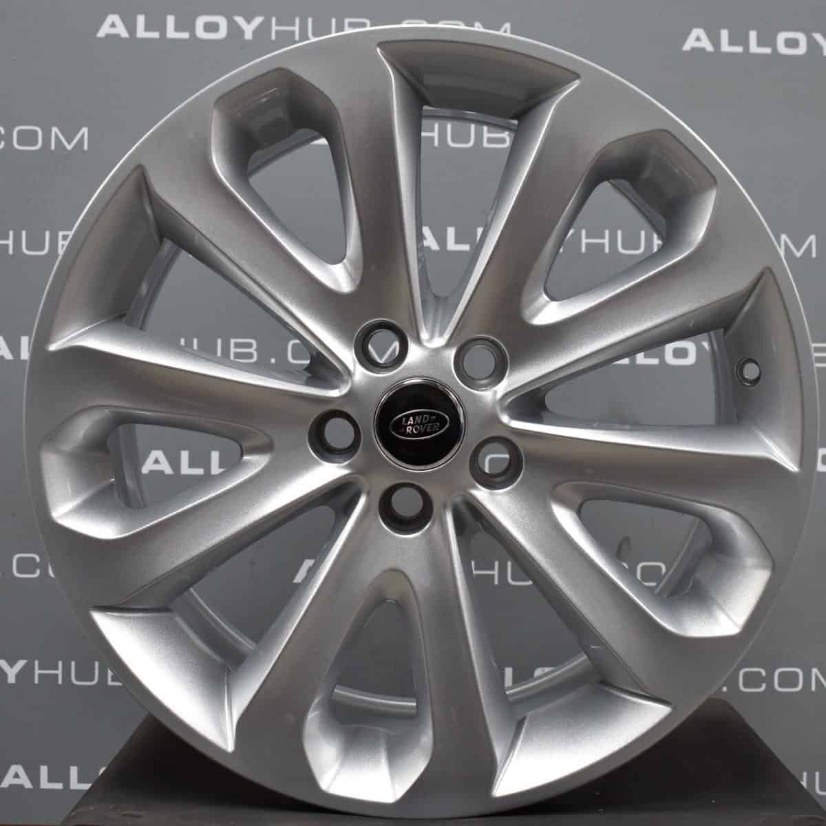 """Genuine Land Rover Range Rover Style 5002 20"""" inch 5 Split Spoke Alloy Wheels with Sparkle Silver Finish LR037745"""