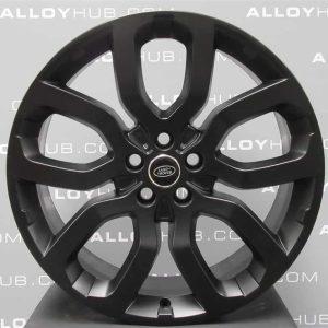 "Genuine Land Rover Range Rover 22"" inch Style 5004 5 Split Spoke Alloy Wheels with Satin Black Finish LR037747"