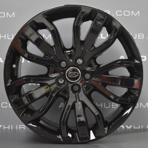 "Genuine Land Rover Range Rover Style 5007 21"" inch 5 Split-Spoke Alloy Wheels with Gloss Black Finish VPLWW0091"