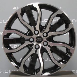 Genuine Land Rover Range Rover Style 5007 21″ inch 5 Split-Spoke Alloy Wheels with Gloss Black & Diamond Turned Finish LR045069