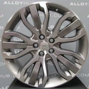 "Genuine Land Rover Range Rover Style 5007 21"" inch 5 Split-Spoke Alloy Wheels with Grey & Diamond Turned Finish LR045069"