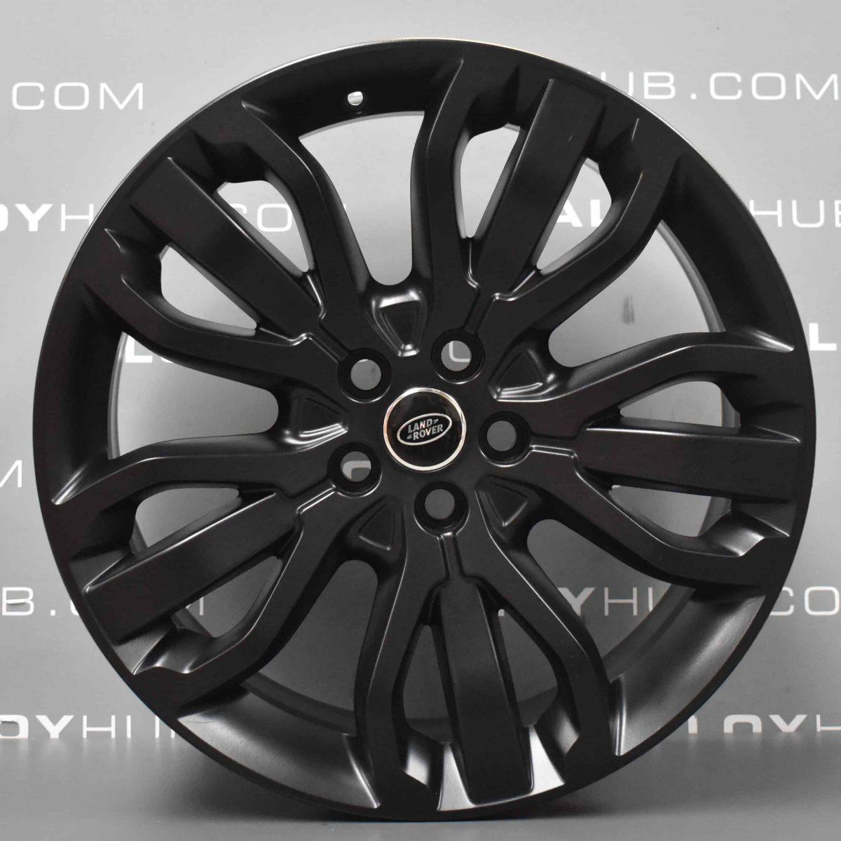 "Genuine Land Rover Range Rover Style 5007 21"" inch 5 Split-Spoke Alloy Wheels with Satin Black Finish VPLWW0091"