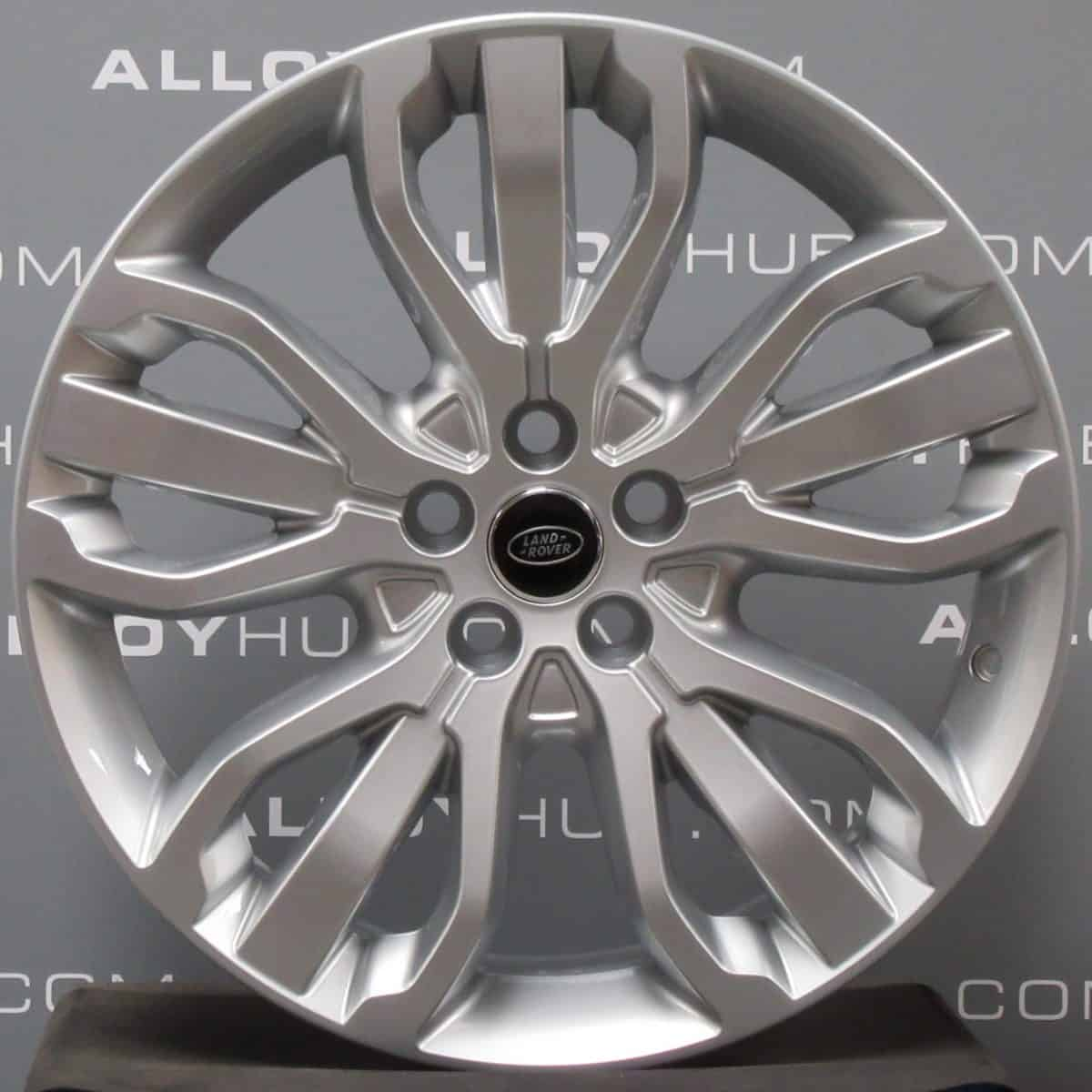 """Genuine Land Rover Range Rover Style 5007 21"""" inch 5 Split-Spoke Alloy Wheels with Sparkle Silver Finish LR044850"""