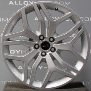 "Genuine Land Rover Range Rover Evoque L538 20"" inch Style 5008 5 Split-Spoke Alloy Wheels with Sparkle Silver Finish LR072181"
