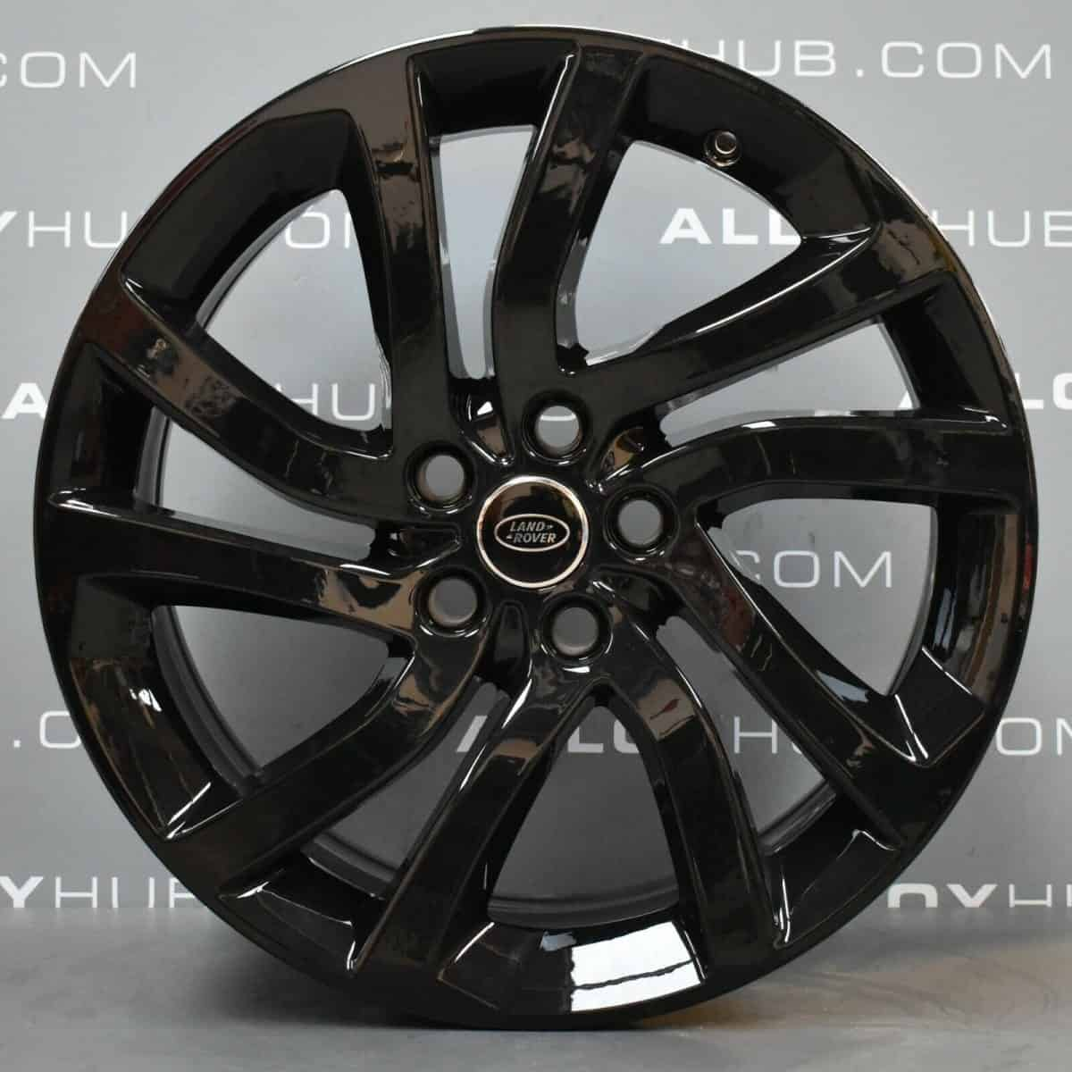 """Genuine Land Rover Discovery 5 Style 5011 5 Split-Spoke 22"""" inch Alloy Wheels with Gloss Black Finish LR082900"""