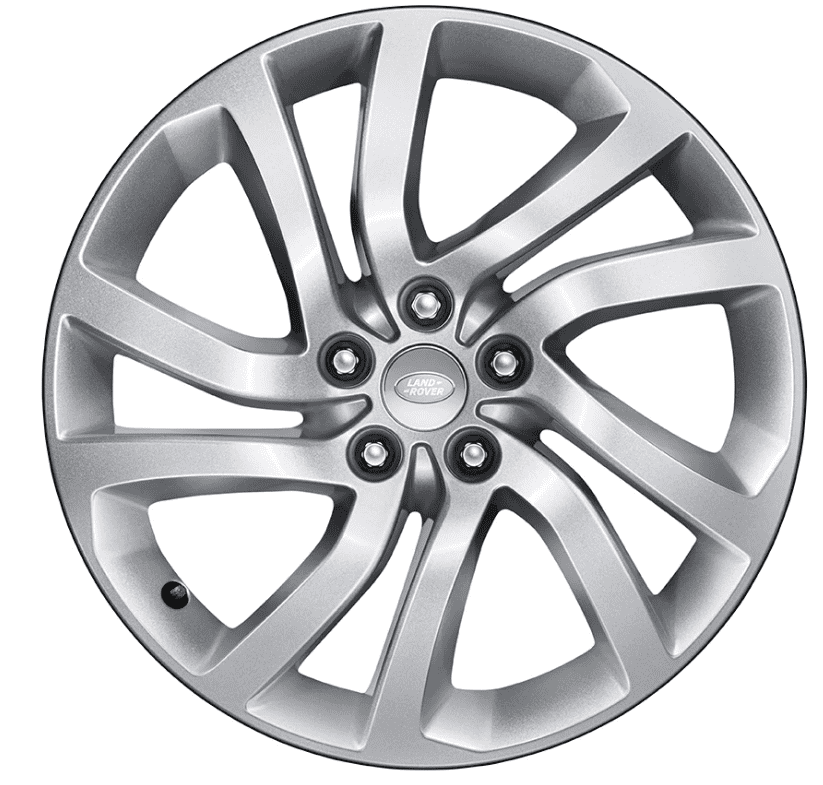 """Genuine Land Rover Discovery 5 Style 5011 5 Split-Spoke 22"""" inch Alloy Wheels with Sparkle Silver Finish LR082901"""