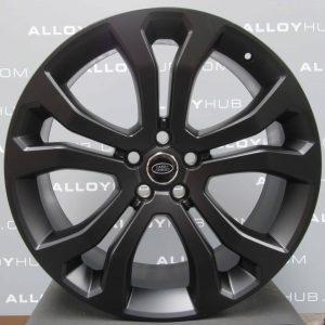 "Genuine Land Rover Range Rover 22"" inch 5 Split-Spoke Style 5014 Alloy Wheels with Satin Black Finish VPLWW0089"