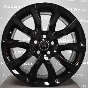 "Genuine Land Rover Range Rover Style 12 5020 20"" inch 5 Split Spoke Alloy Wheels with Gloss Black Finish VPLWW0090"
