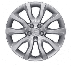 """Genuine Land Rover Range Rover Style 12 5020 20"""" inch 5 Split Spoke Alloy Wheels with Sparkle Silver Finish LR044848"""