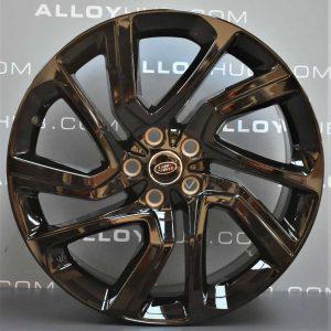 "Genuine Land Rover Range Rover Sport L494 Vogue L405 Style 5085 21"" inch 5 Split-Spoke Alloy Wheels with Gloss Black Finish LR099136"