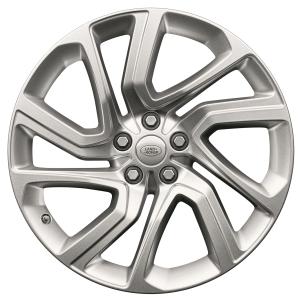 "Genuine Land Rover Range Rover Sport L494 Vogue L405 Style 5085 21"" inch 5 Split-Spoke Alloy Wheels with Sparkle Silver Finish LR099136"