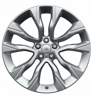"""Genuine Land Rover Range Rover Style 5086 5 Split-Spoke 22"""" inch Alloy Wheels with Sparkle Silver Finish LR099144"""