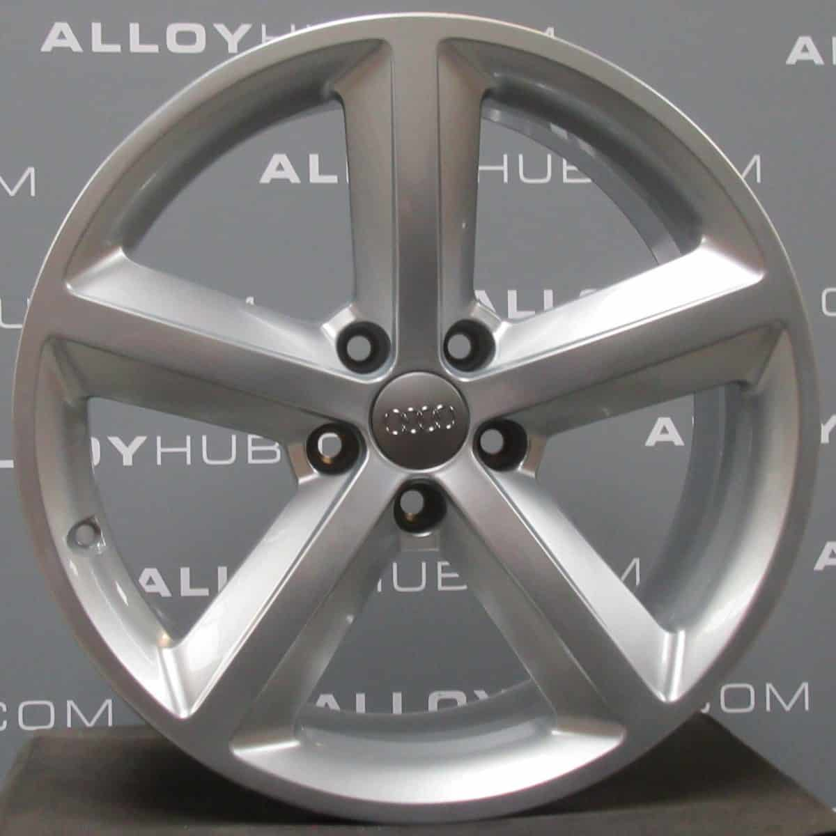 """Genuine Audi A5 8T 5 Spoke 18"""" Inch Alloy Wheels with Silver Finish 8T0 601 025 M"""