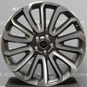 """Genuine Land Rover Range Rover 22"""" inch Style 16 7007 Alloy Wheels with Grey & Diamond Turned Finish LR039141"""