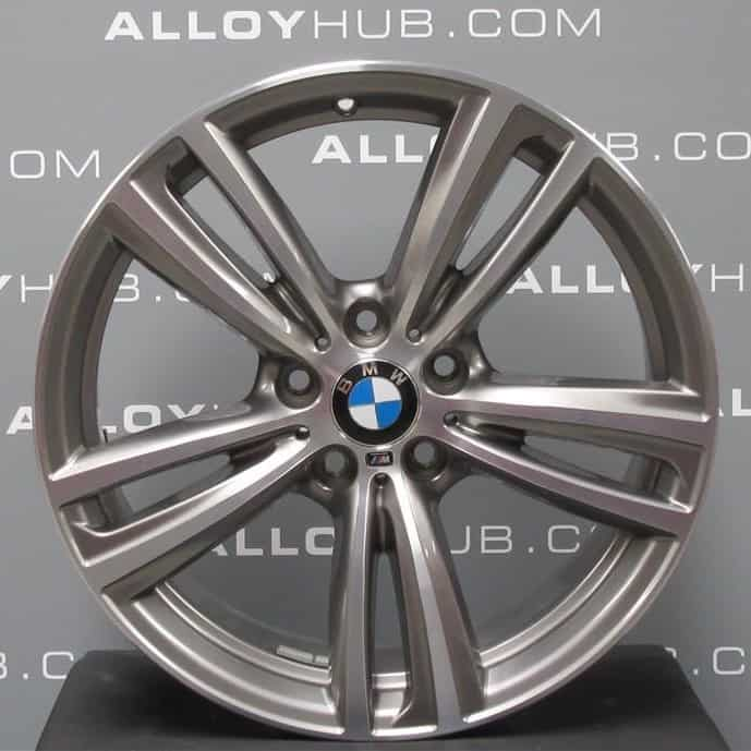 "Genuine BMW 3/4 Series Style 442M Sport 19"" Inch Alloy Wheel with Ferric Grey & Diamond Turned Finish 36117846493 36117846494"