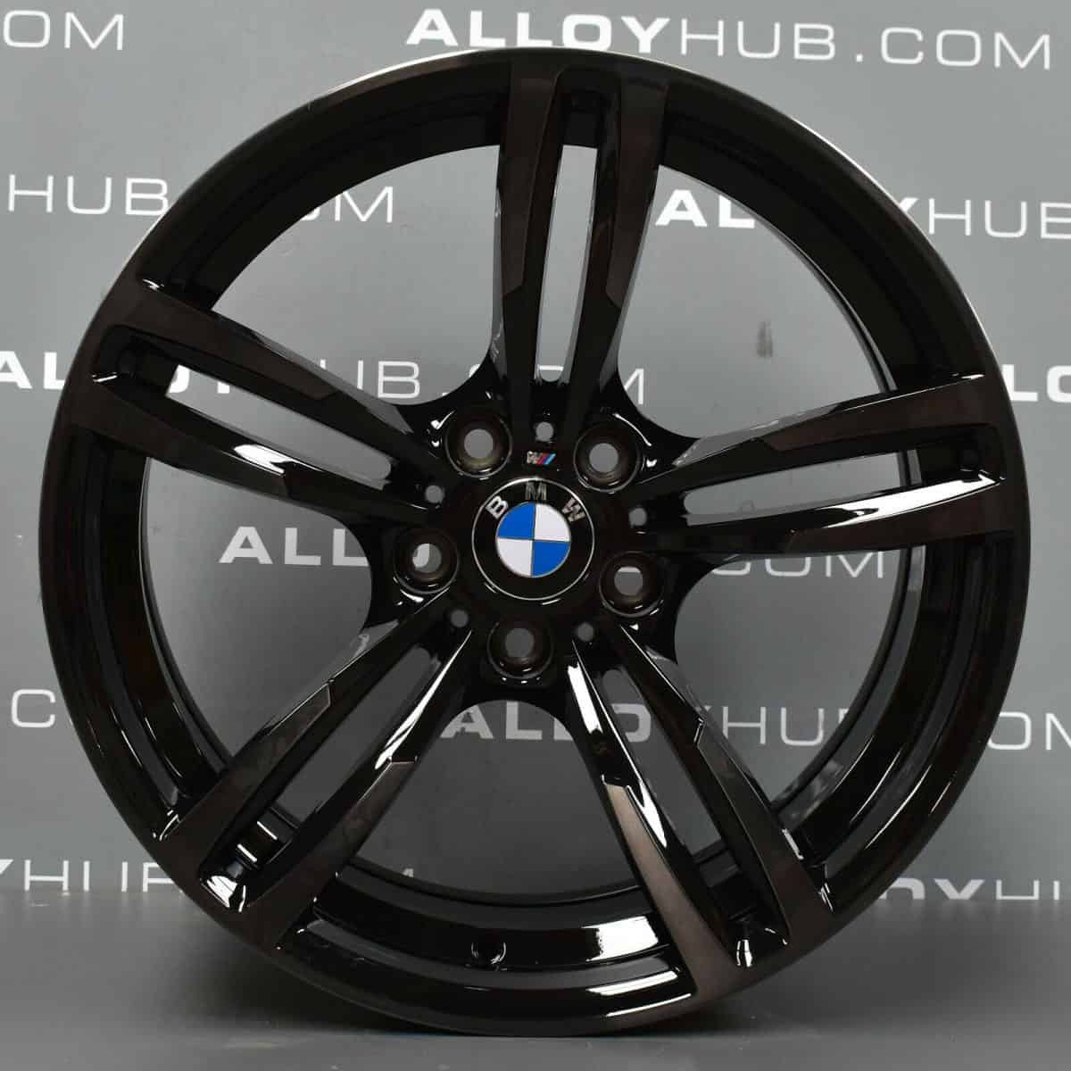 "Genuine BMW 437M Sport M2 M3 M4 F87 F80 F82 19"" Inch Alloy Wheels with Smoked Gloss Black Finish 36112284755 36112284756"