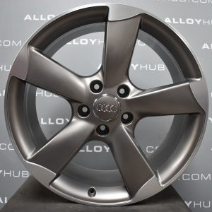 "Genuine Audi Q7 4L 5 Spoke Rotor Arm 21"" inch Alloy Wheels with Grey & Diamond Turned Finish 4L0 601 025 CE"