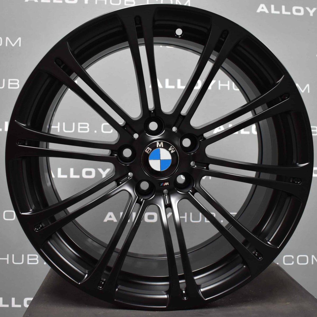 """Genuine BMW M3 E90 E91 E92 220M Sport 19"""" Inch 10 Double Spoke Alloy Wheels with Satin Black Finish 36112283555 36112283556"""