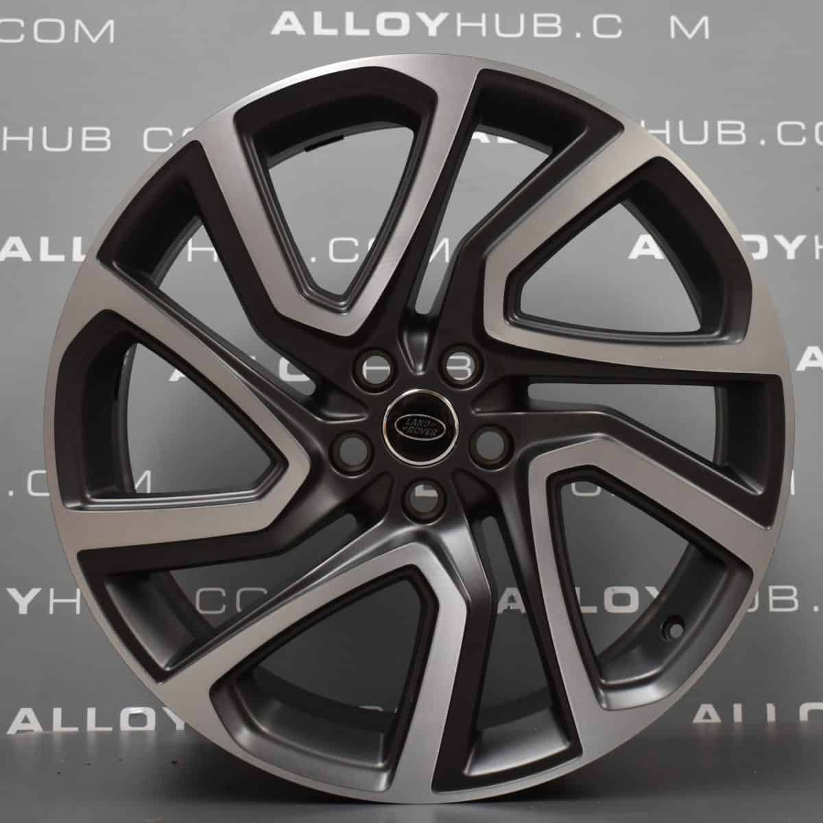 """Genuine Land Rover Discovery 5 Style 5025 22"""" inch Alloy Wheels with Grey & Diamond Turned Finish VPLRW0117"""
