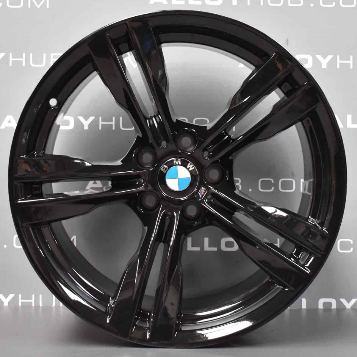 "Genuine BMW X5 X6 F15 F16 467M Sport 5 Twin Spoke 19"" inch Alloy Wheels with Gloss Black Finish 36117846786 36117846787"