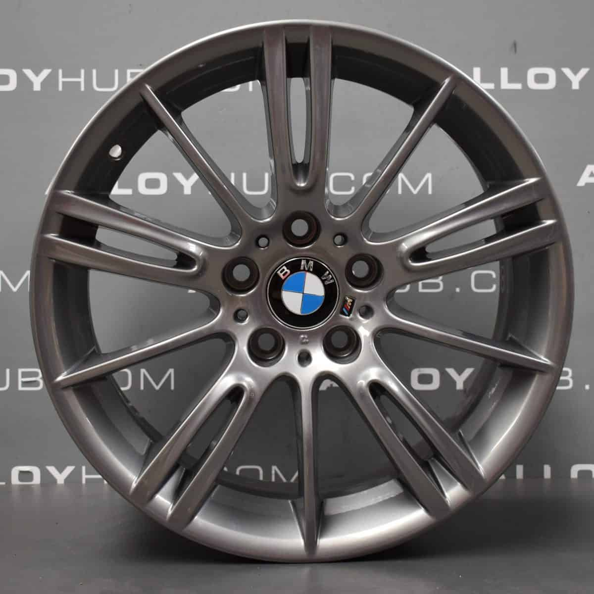 """Genuine BMW 3 Series MV3 193M Sport 18"""" Inch Alloy Wheels with Ferric Grey Finish 36118036933 36118036934"""