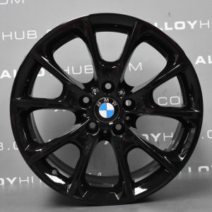 Genuine BMW 3/4 Series Style 398 Sport 18″ Inch Alloy Wheels with Gloss Black Finish 36116796250 36116796251
