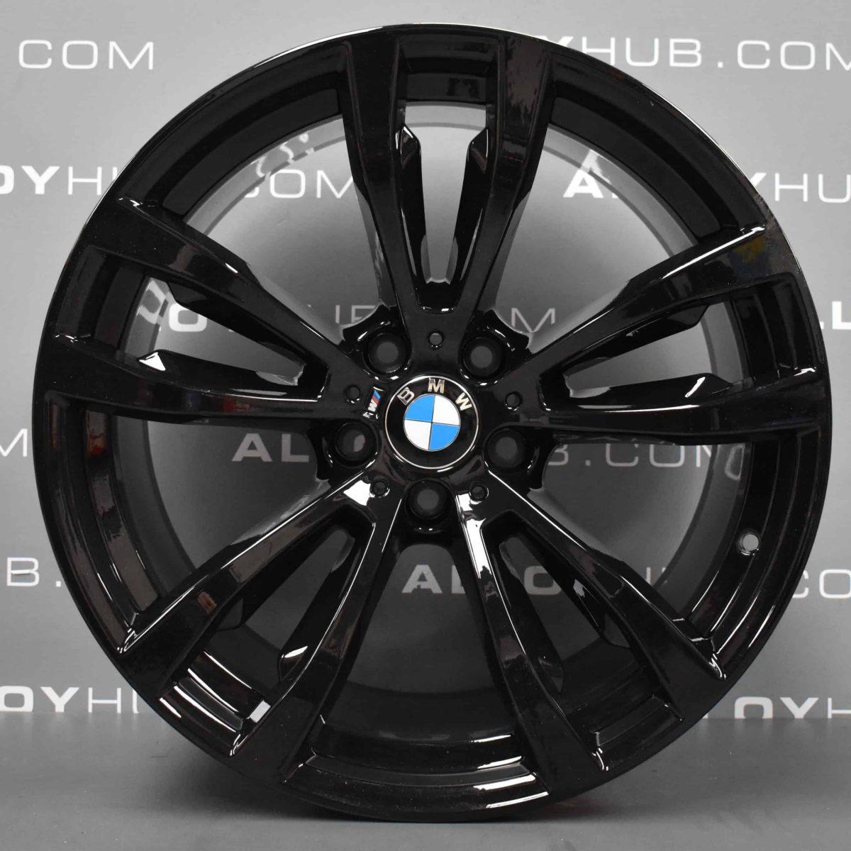 Genuine BMW X5 X6 F15 F16 Style 469M Sport 20″ inch 5 Twin Spoke Alloy Wheels with Gloss Black Finish 36117846790 36117846791