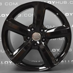"Genuine Audi Q7 4L 5 Spoke S-Line Speedline 20"" Inch Alloy Wheels with Gloss Black Finish 4L0 601 025 H"