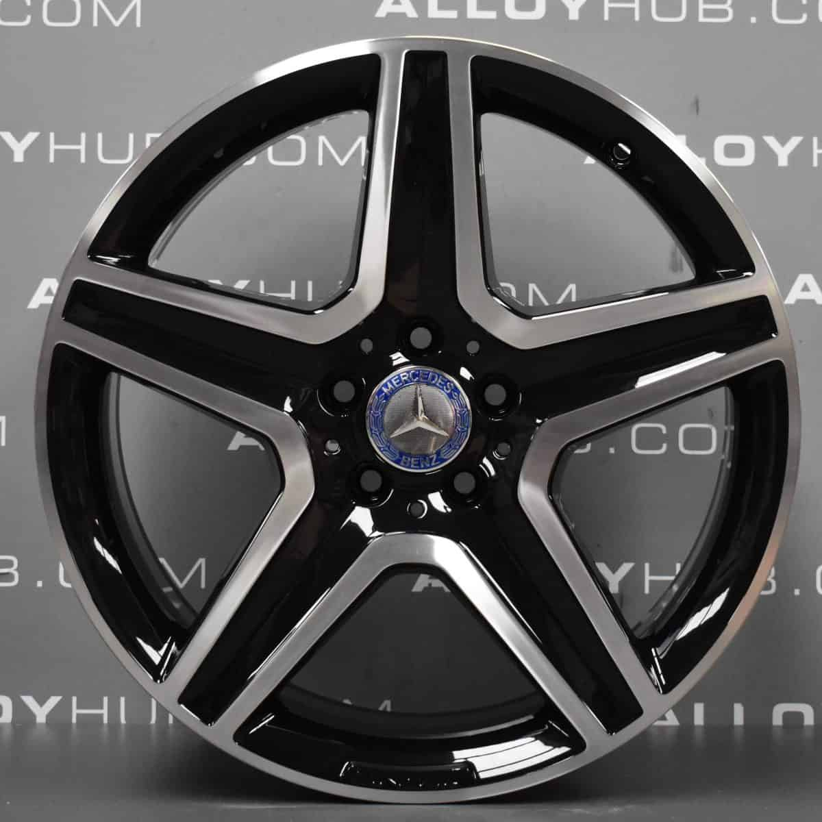 "Genuine Mercedes-Benz GLA X156 AMG 19"" inch 5 Spoke Alloy Wheels with Gloss Black & Diamond Turned Finish A1564010600"